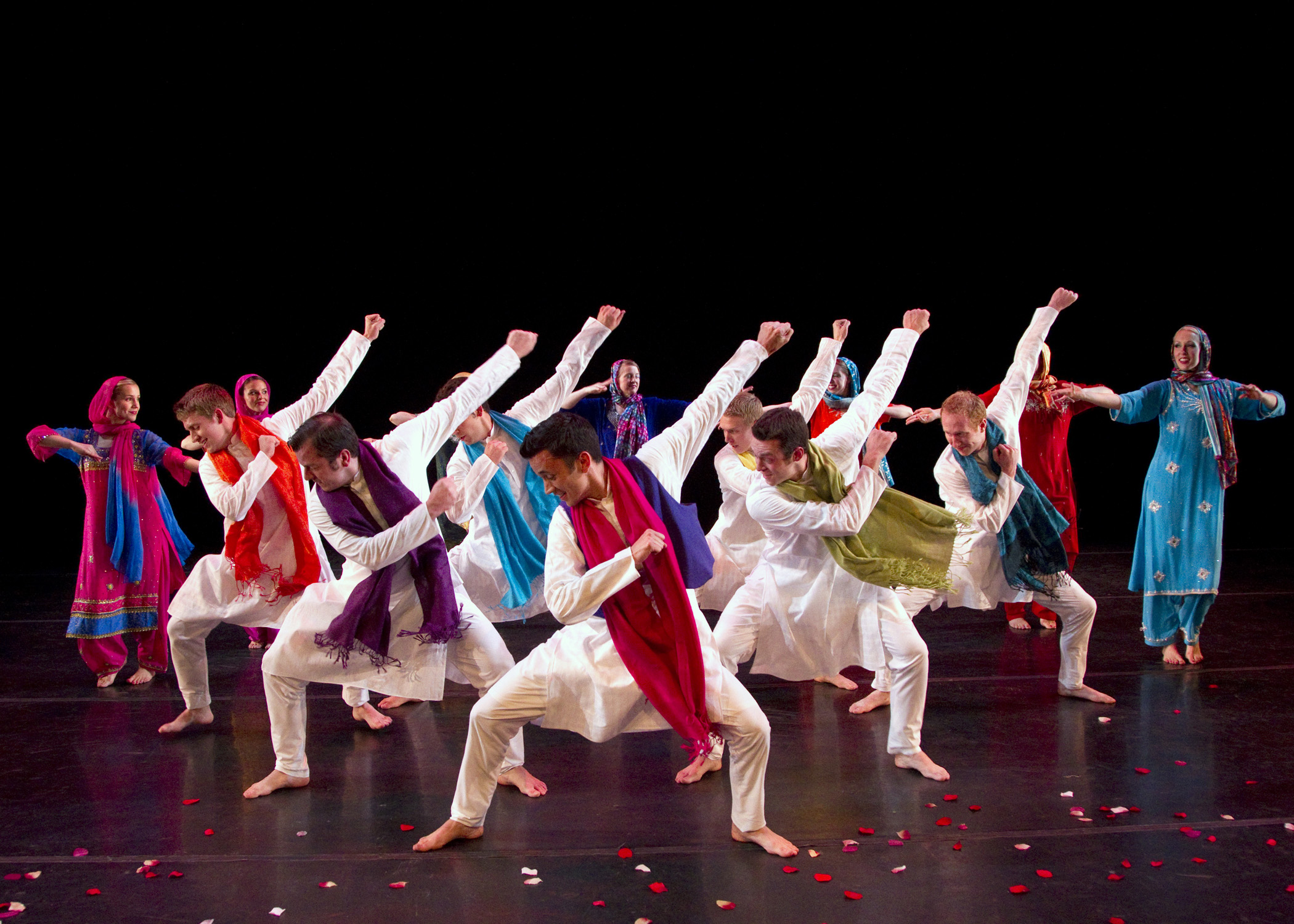 "International Folk Dance Ensemble performing the Indian Bollywood dance, ""Bali Bali.""