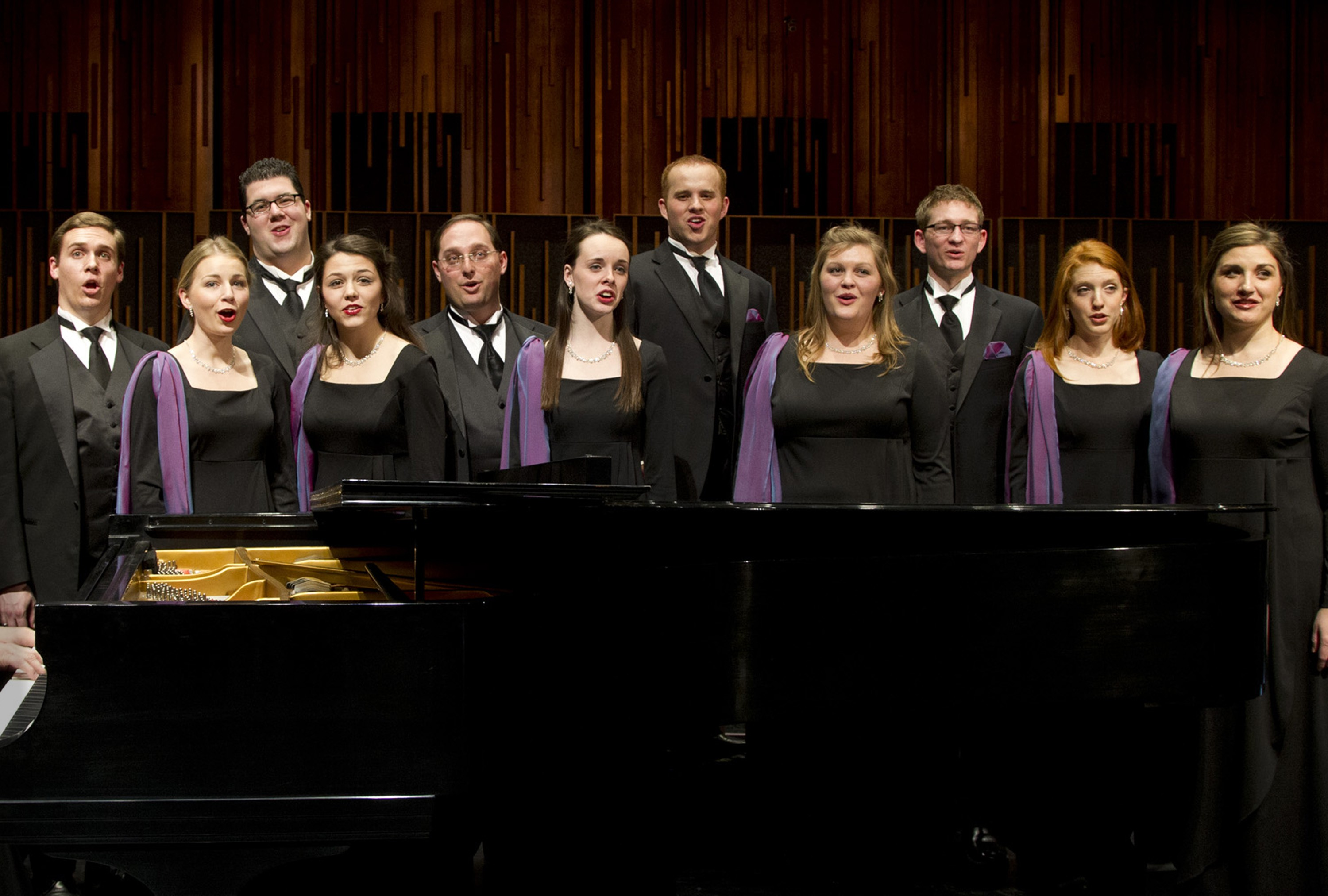 1202-05 159.CR2  Many members of the Brigham Young University Singers are fine instrumentalists in addition to being talented singers, and their abilities are often incorporated into the pieces performed by the choir.   Photography by Mark A. Philbrick  Copyright BYU Photo 2012 All Rights Reserved photo@byu.edu  (801)422-7322