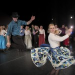 "Folk Dancers David Lewis and Amber Shepherd performing the Romanian Gypsy dance, ""Szászcsávási Cigány Táncok"" in 2013.