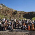 Chamber Orchestra poses for a group photo at Rock Canyon for their 2016-2017 season. Photography by Nathaniel Ray Edwards.