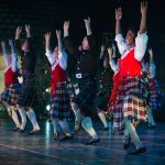 Folk Dancers of the Tier II Ensemble performing the Scottish, 'Caledonian Salute' at BYU's Christmas Around the World 2016.
