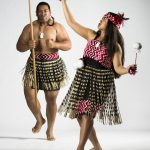 Luti Nonu and Keakealani Loo represents the New Zealand haka and poi dance,