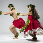Kaleb Ho CHing and Keilani Clark dances in the Hawaiian number, 'Noho Ana Ke 'Ala Anuhea.'  Photo by Jaren Wilkey/BYU  © BYU PHOTO 2017 All Rights Reserved photo@byu.edu  (801)422-7322