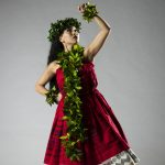 Keilani Clark dances in the Hawaiian number, 'Noho Ana Ke 'Ala Anuhea.'