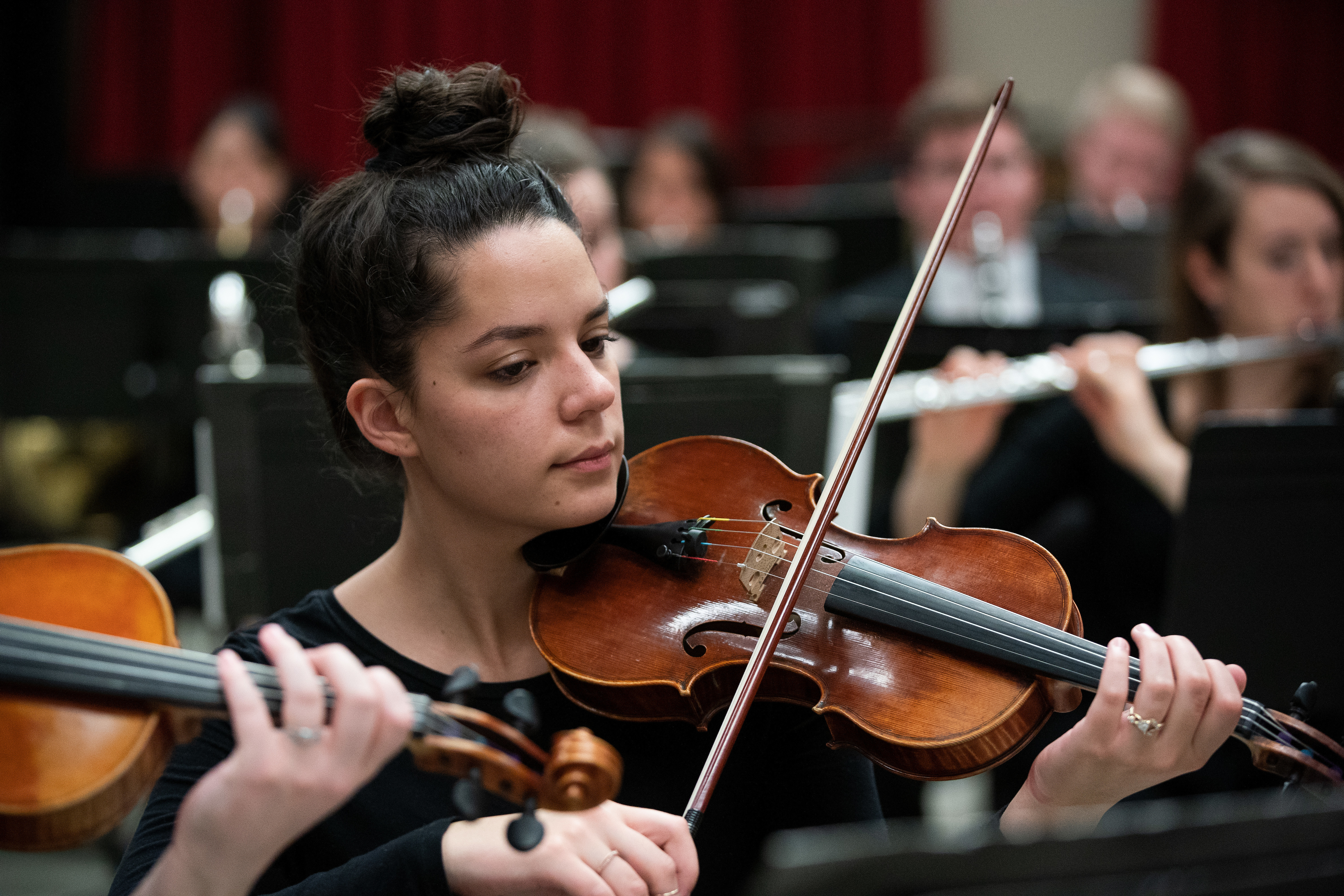 1903-61 038  1903-61 Chamber Orchestra Rehearsal  BYU Chamber Orchestra  March 26, 2019  Photo by Jaren Wilkey/BYU  © BYU PHOTO 2019 All Rights Reserved photo@byu.edu  (801)422-7322
