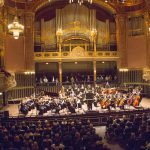 The Chamber Orchestra at Liszt Academy Grand Hall in Budapest, Hungary. Photography by Mark A. Philbrick. Copyright BYU Photo 2014.