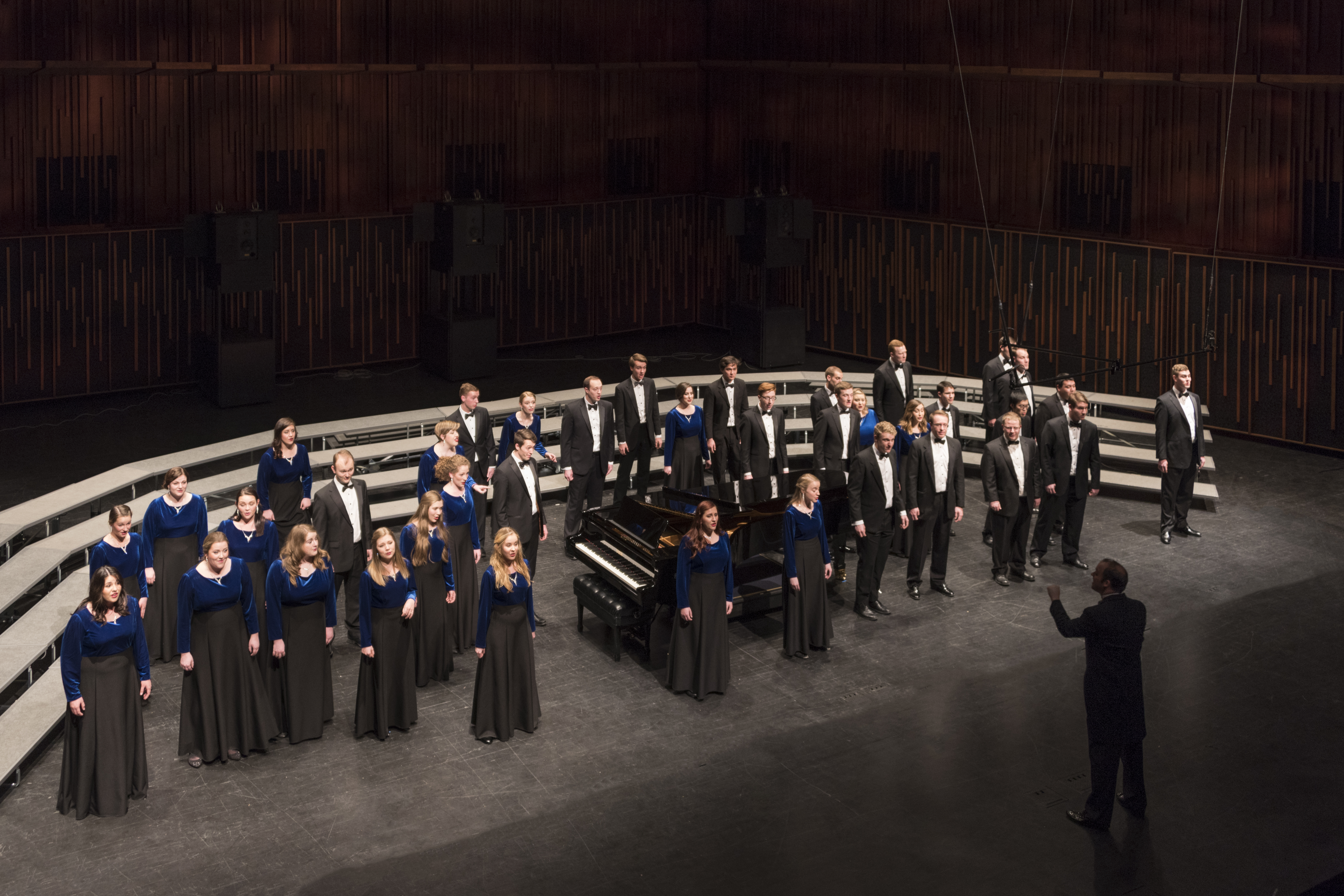 BYU Singers during their 2017 Winter Choirfest at BYU de Jong Concert Hall. Photo by Sandefur Schmidt.