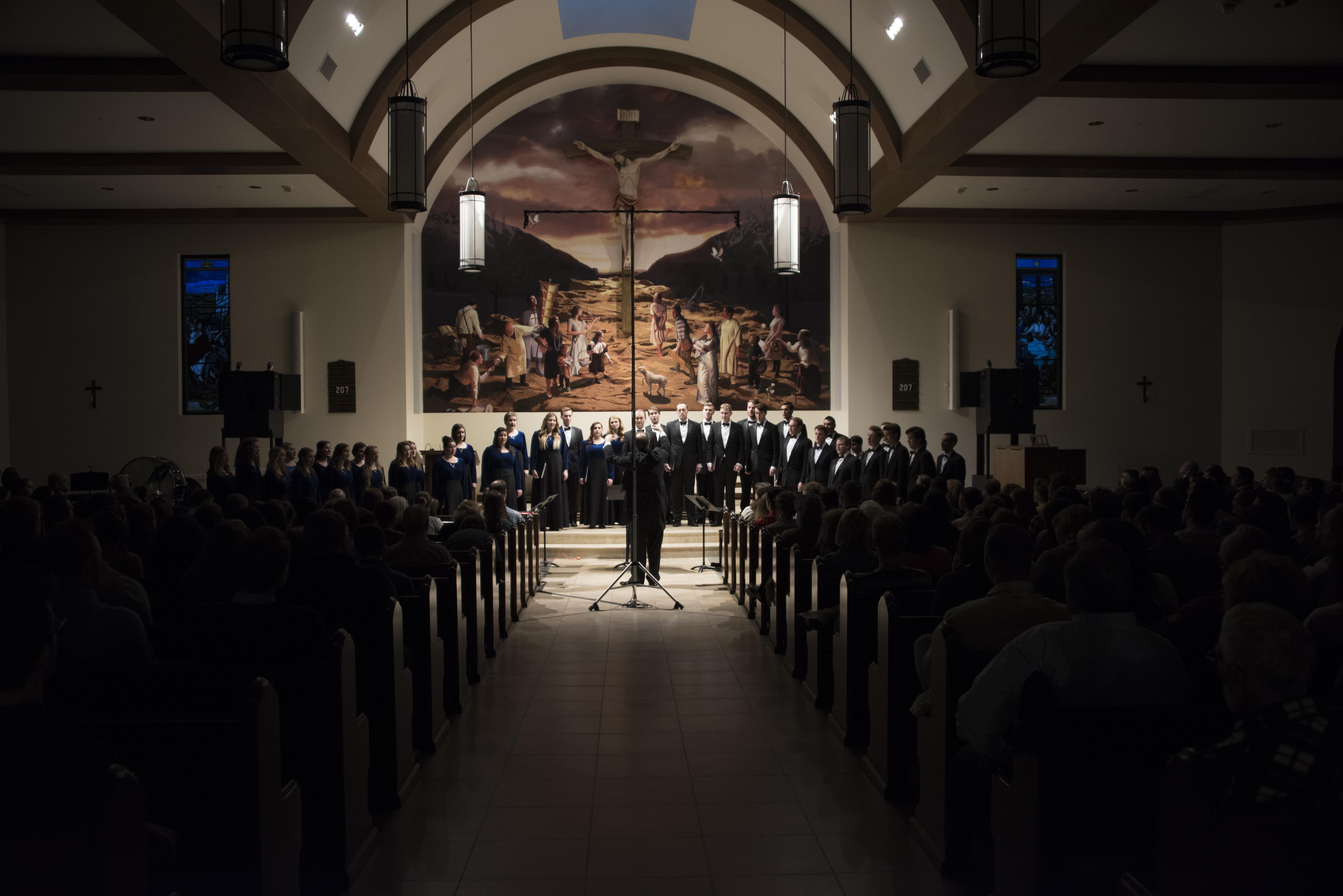 BYU Singers at St. Francis of Assissi Cathedral in Orem, Utah 2017. Photo by Sandefur Schmidt.