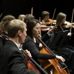 Yeri Park, Joseph Woodward, Kirsten Skabelund, and Erin Durham  play in the string section of Brigham Young University's Chamber Orchestra, the most selective and elite orchestra at BYU.   Photography by Mark A. Philbrick  Copyright BYU Photo 2012 All Rights Reserved photo@byu.edu  (801)422-7322