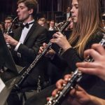 Somber clarinets provide a soothing voice in the symphony.  Photography by Michael Handley BYU Photo 2017 All Rights Reserved photo@byu.edu (801) 422-7322
