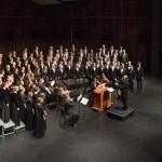 BYU Singers during their November 2015 concert at BYU de Jong Concert Hall. Photo by Sandefur Schmidt.