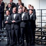 BYU Singers men during a performance in Snowflake, Arizona. Photo by Sandefur Schmidt.