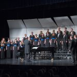 BYU Singers performing in Snowflake, Arizona during their 2016 tour. Photo by Sandefur Schmidt.